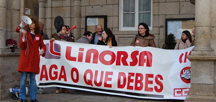 Linorsa pagou xa o salario de febreiro ás súas traballadoras