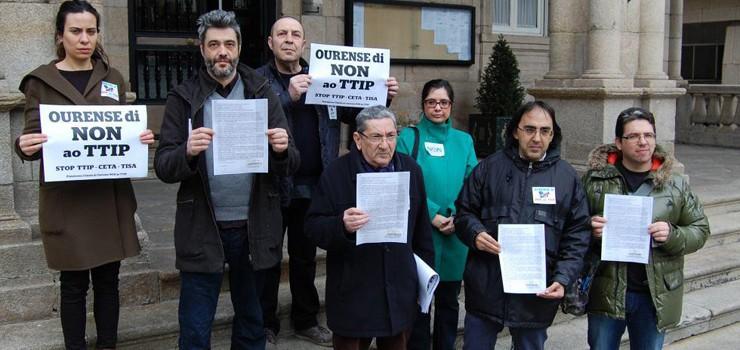 Campaña contra o TTIP en Ourense