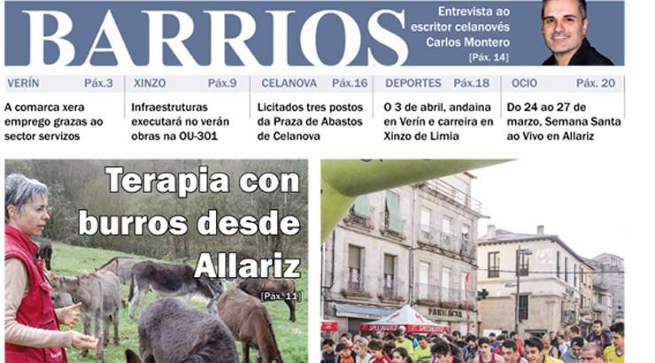 Publicado o número de marzo de Barrios