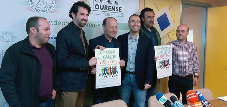O Galego de 10.000 en pista, no Campus de Ourense