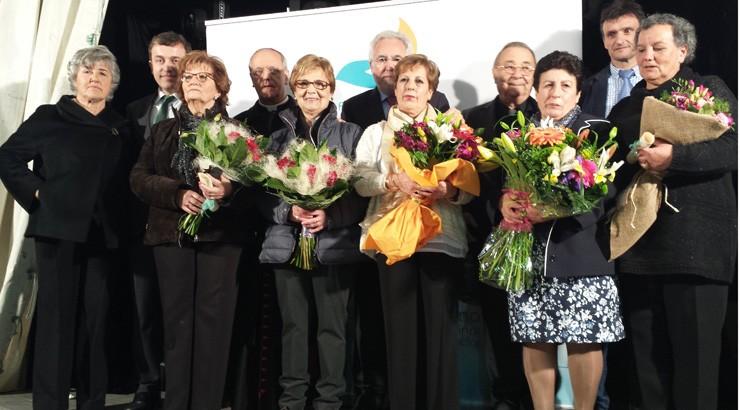Los trabajadores de la Fundación San  Rosendo festejan su patrón en Laias