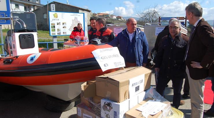 Material de emerxencias para os concellos da fronteira con Portugal