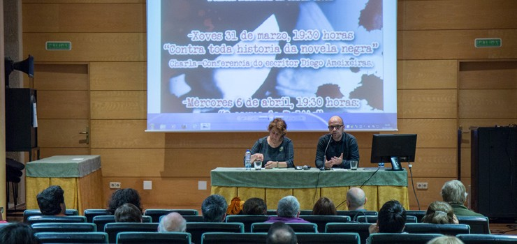 """O corpo do delito"", terceira conferencia do 2ª Ciclo de Novela Negra de Verín"