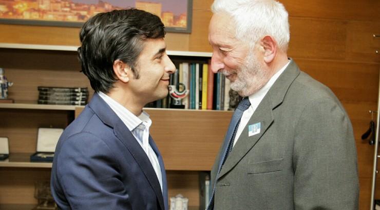 Rey Varela recibe o alcalde de Vilariño de Conso