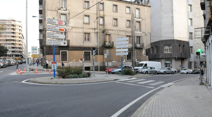 Obras en Marcelo Macías obrigan a facer de dobre sentido os carrís de entrada á cidade