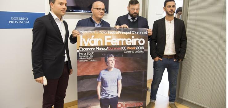 Iván Ferreiro tocará na ICC Week 2016