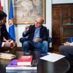 Jorge Brown, Manuel Baltar e Carlota Pico./A.P.