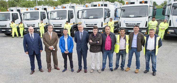 Novos vehículos incorpóranse á flota de recollida de lixo da Deputación