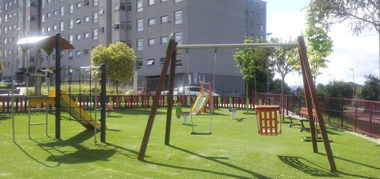 Reapertura do parque infantil da estación de autobuses