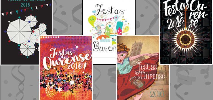 Aberto o prazo de elección entre os finalistas a converterse no cartel das Festas de Ourense