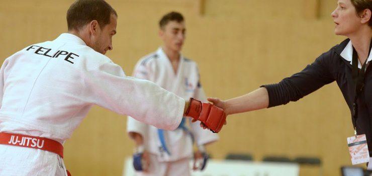 Felipe Iglesias, en el Europeo de Jiu Jitsu