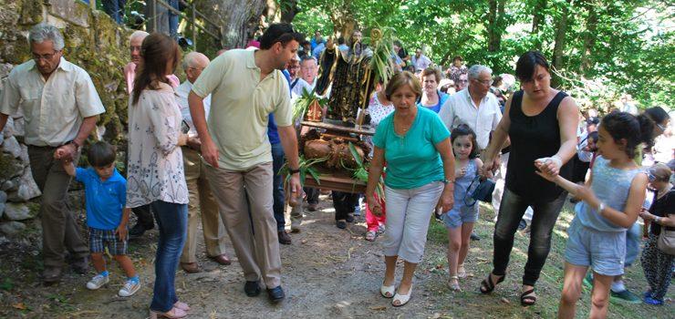 Parada de Sil incrementó el número de romeros en los actos en honor de San Benito