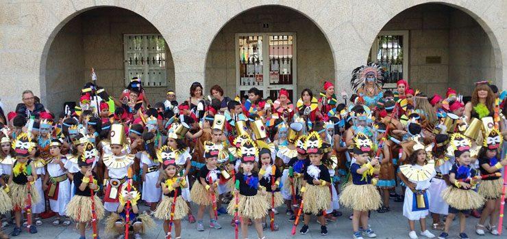 Cento trinta nenos participan no desfile da Ludobatucada