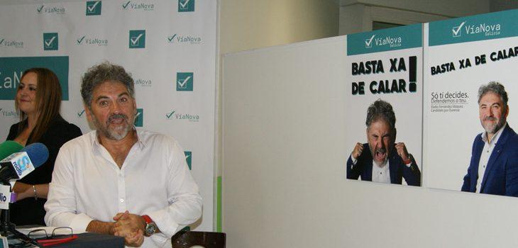 """""""Basta xa de calar"""", lema de campaña de VíaNova Galicia"""