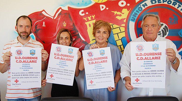 A UD Ourense recollerá material escolar