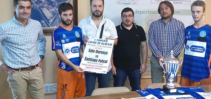 O Sala Ourense preséntase ante a súa afección nun partido co Santiago