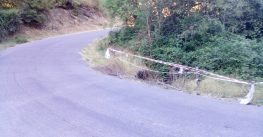 O BNG denuncia o mal estado dunha estrada en Riós