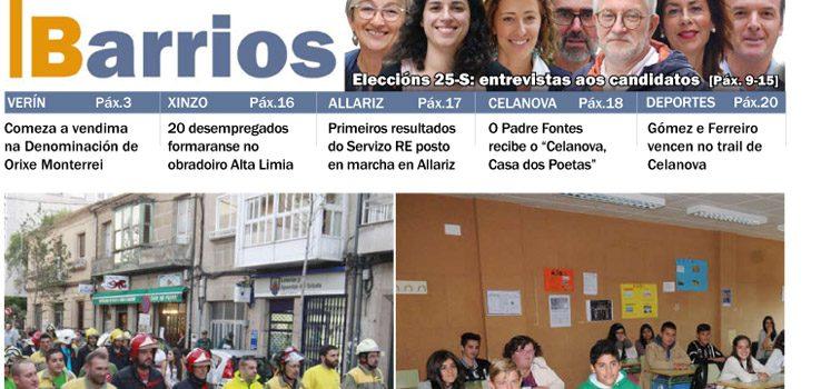Publicado o número de setembro de Barrios