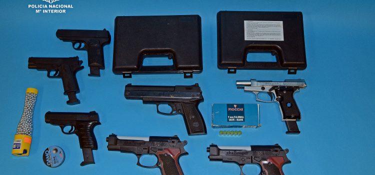 Intervienen siete armas de aire comprimido en Ourense