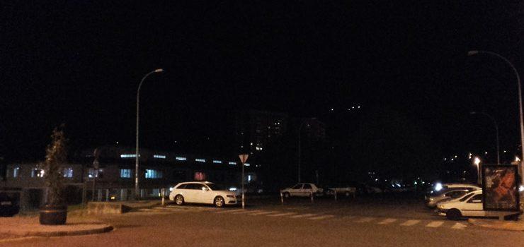 Malestar veciñal pola falta de iluminación nos accesos á estación de autobuses