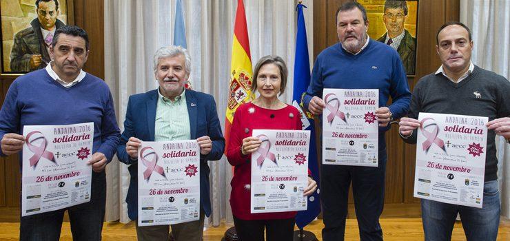 Nogueira se solidariza contra o cancro de mama cunha andaina