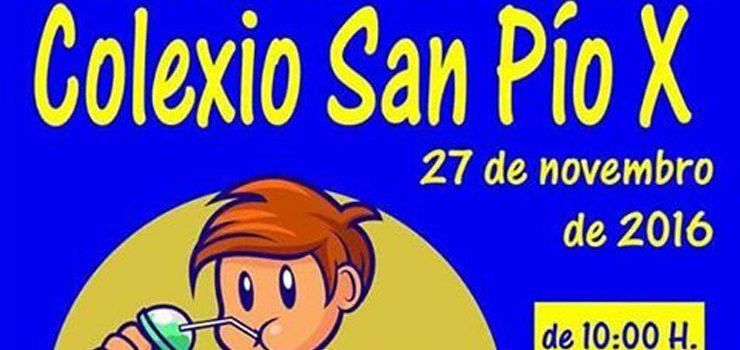 Mercado solidario no colexio de San Pío X