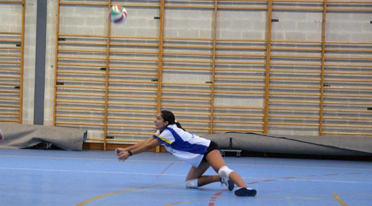 Concentración de deporte escolar de voleibol