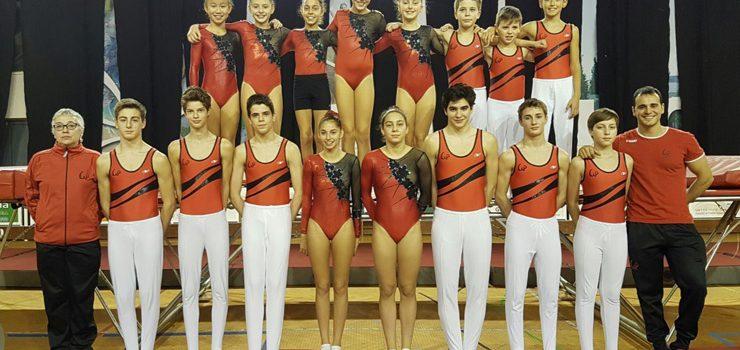 Medallas para o Club Ximnasia Pavillón en Portugal