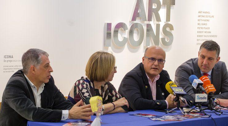 """A mostra """"Pop Art Icons"""", no Centro Cultural """"Marcos Valcárcel"""""""