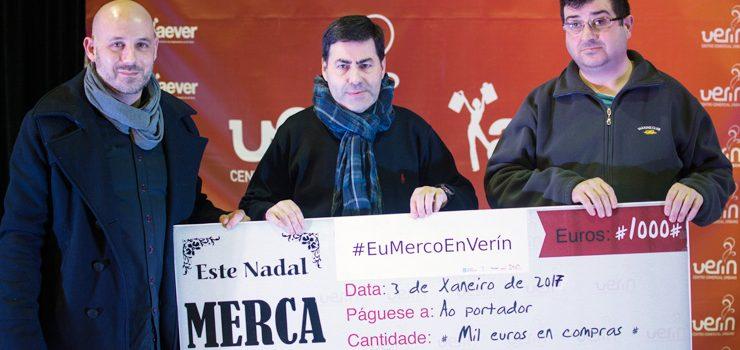 """O premio """"Este Nadal merca en Verín"""", para Miguel Vega"""