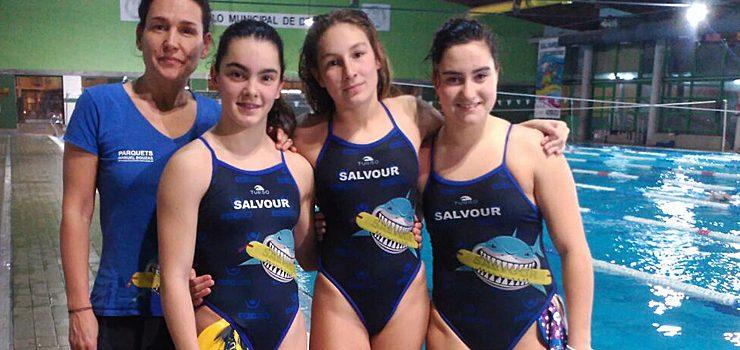 Tres ourensanas en el campeonato de España cadete de salvamento