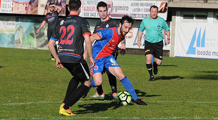 A UD Ourense solventou o partido no primeiro tercio