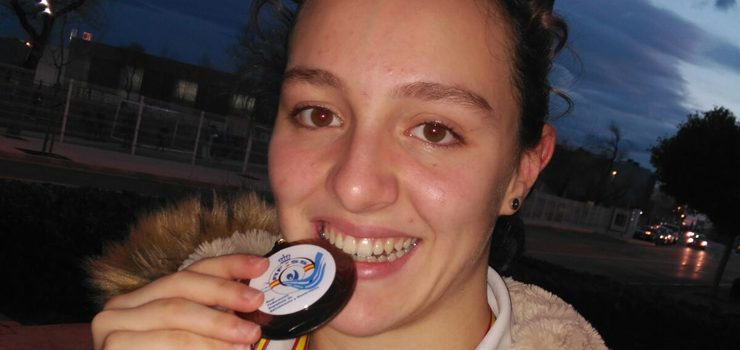 Andrea Bello, medalla de bronce no Campionato de España