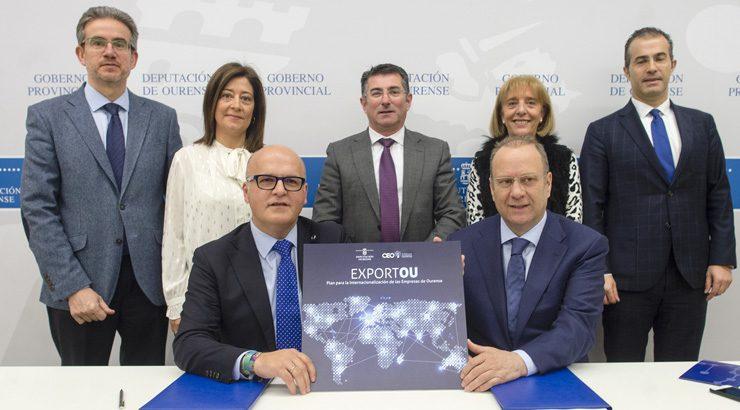 """A Deputación de Ourense e a CEO impulsan a internacionalización das empresas de Ourense co Plan """"Exportou"""""""