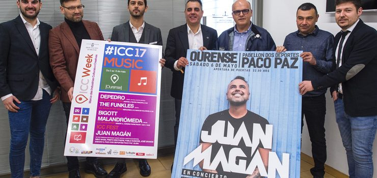 Juan Magán, DePedro, Bigott e Malandrómeda encabezan a proposta musical da ICC Week