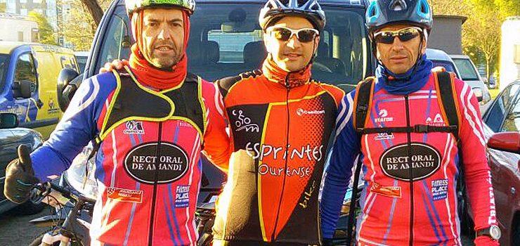 Tres ourensáns en la BTT Powerade Race