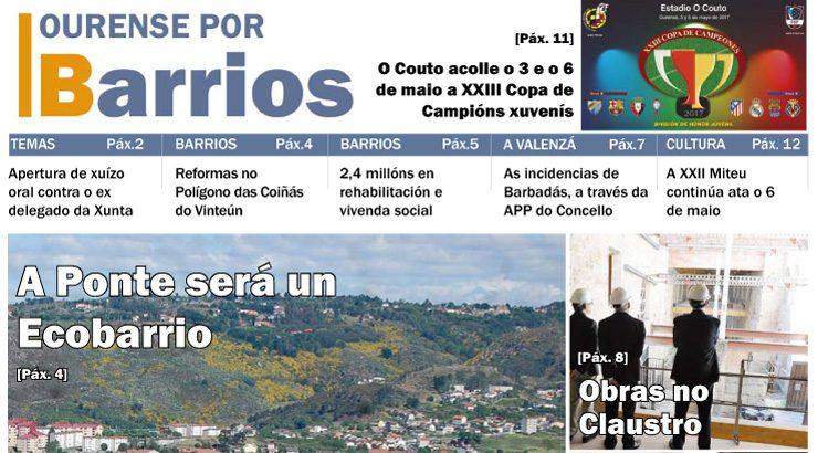 Ourense por Barrios de abril 2017