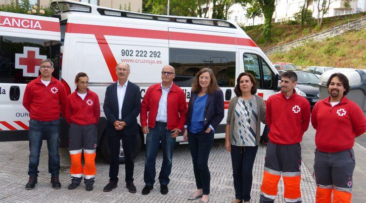 A Deputación de Ourense entrega a Cruz Vermella  unha nova ambulancia para emerxencias