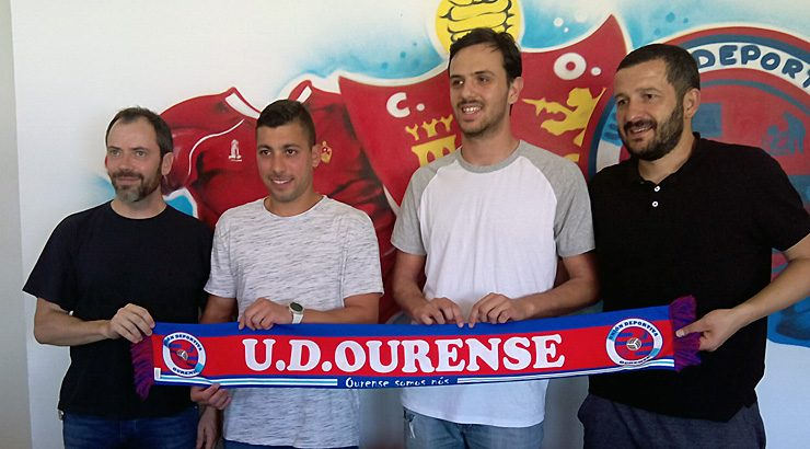 Julio Martínez e Oli, na UD Ourense 2017-18