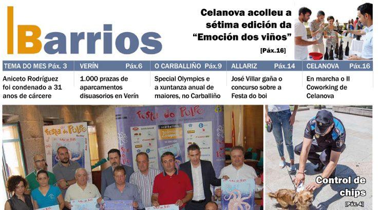Publicado o número de Barrios do mes de xullo