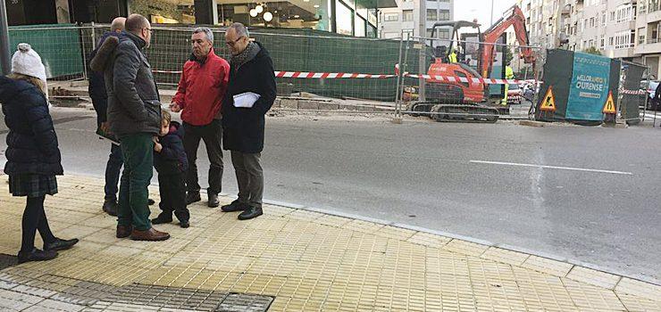 Melloras de accesibiliade na intersección entre Ramón Puga e Saínza