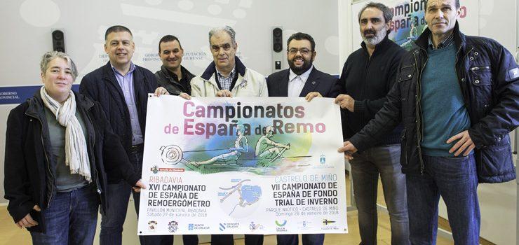 700 deportistas, nos campionatos de España de Remo en Castrelo de Miño e Ribadavia