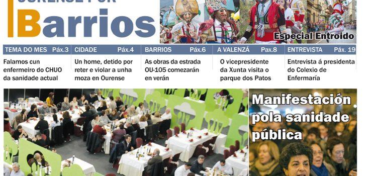 Ourense por Barrios xaneiro 2018