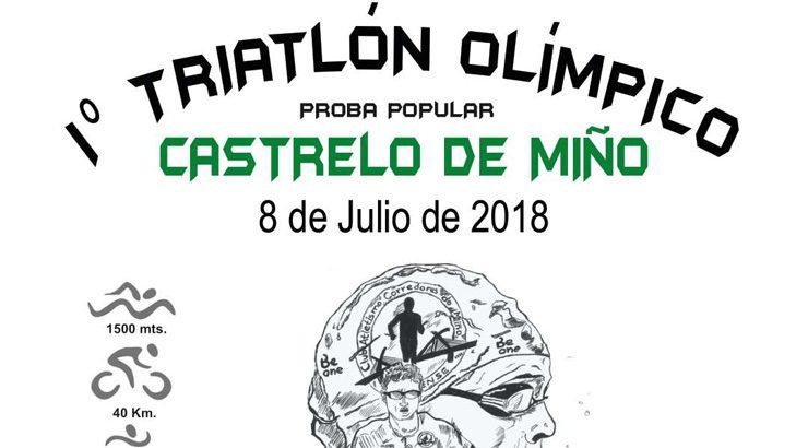 Primeiro triatlón Olímpico de Castrelo de Miño