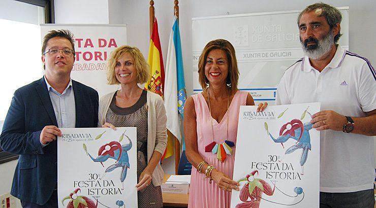 A Xunta firma un convenio para apoiar á Festa da Istoria de Ribadavia