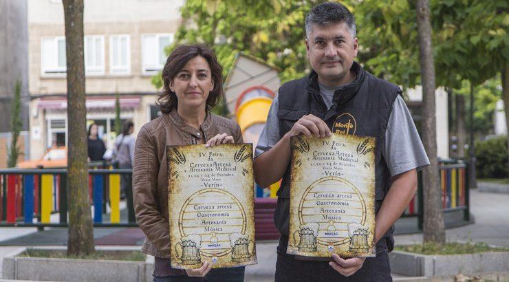 Verín celebra a cuarta edición da feira da Cervexa Artesá e Artesanía Medieval