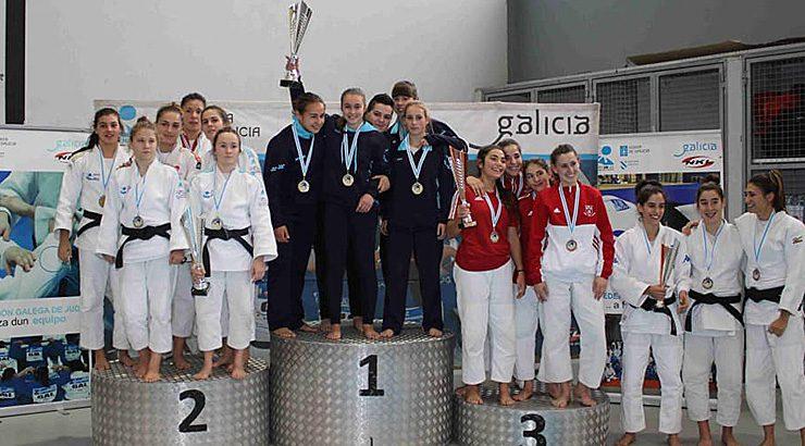 Bitácora y Baixo Miño campeones de la Liga de Judo