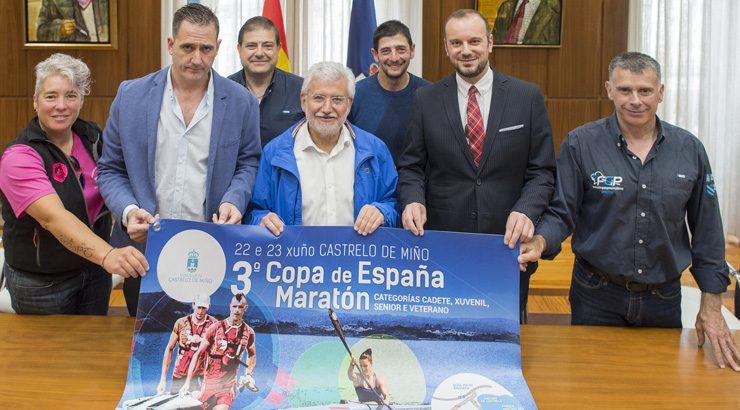 A 3ª Copa de España de Maratón de piragüismo dispútase en Castrelo de Miño