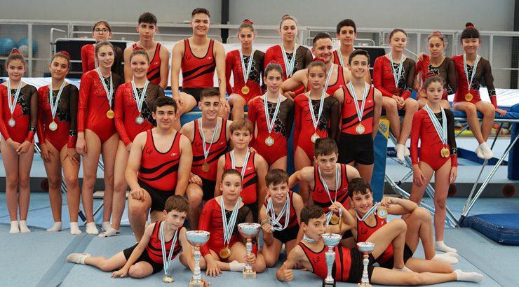 A ximnasia galega de trampolín citouse en Oira