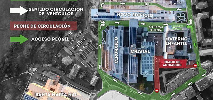 A circulación e o acceso ao hospital sofren modificacións